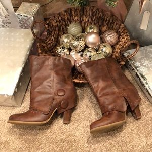 Brown Boots with extended flap!